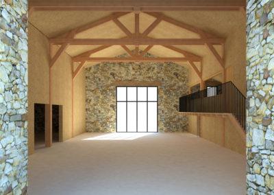 Rénovation d'une grange en atelier d'artisanat d'art