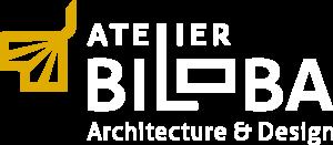 Logo Atelier Biloba Texte Blanc