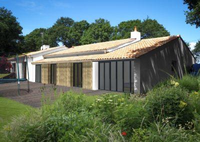 Etude de faisabilités pour une extension de maison individuelle avec aménagement du jardin « au Bois Jubin »